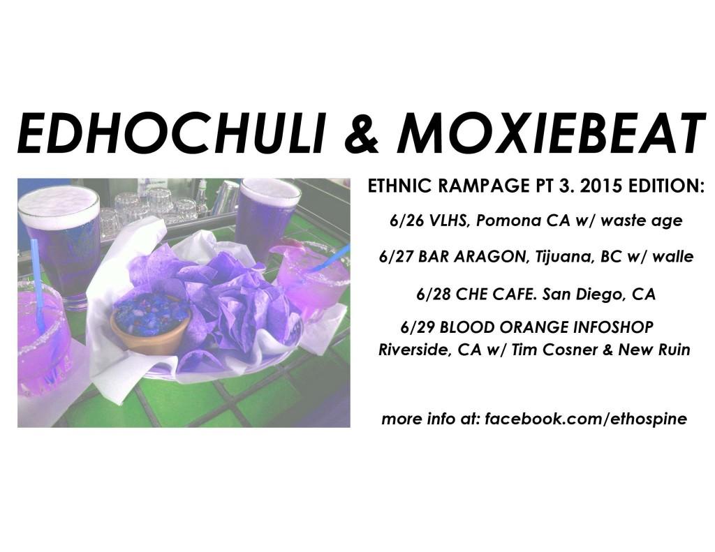 EDHOCULI AND MOXIEBEAT SUMMER 2015 TOUR